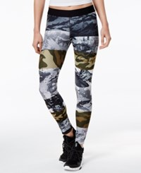 Reebok Camo Print Speedwick Leggings Coal