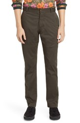 Descendant Of Thieves Ransom Slim Fit Twill Pants Deep Olive