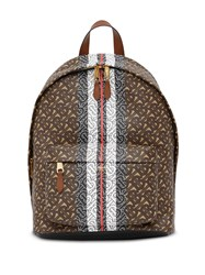 Burberry Monogram Stripe Backpack Brown