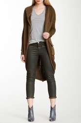 L.A.M.B. Hooded Cocoon Sweater Cardigan Green