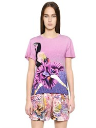 Mary Katrantzou Printed Stretch Cotton T Shirt