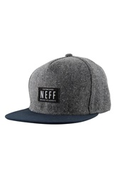 Neff 'Liph' Tweed Snapback Cap Grey