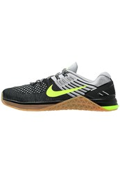 Nike Performance Metcon Xds Flyknit Sports Shoes Wolf Grey Volt Black Med Brown