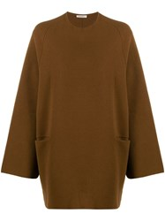 The Row Oversized Jumper Brown