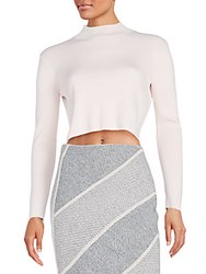 O'2nd Eros Ribbed Knit Mockneck Crop Top Pink