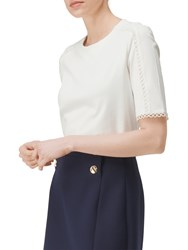 Lk Bennett L.K. Lana Lace Detail Top Cream