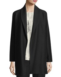 Eileen Fisher Shawl Collar Long Jacket Black