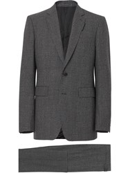 Burberry English Fit Puppytooth Check Wool Suit Grey