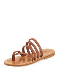 K. Jacques Sycomore Strappy Flat Thong Sandal Catalina Size 37.5B 7.5B