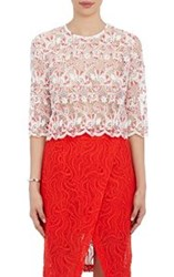 Roseanna Women's Lace Crop Top Red