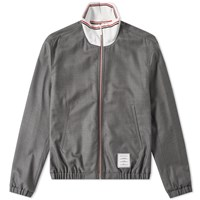 Thom Browne Funnel Neck Track Jacket Grey
