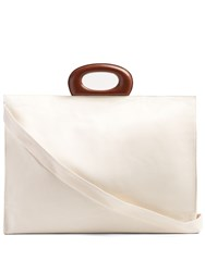 Christophe Lemaire Canvas And Leather Trim Tote Cream