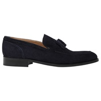 Reiss Punch Suede Tassel Loafers Navy