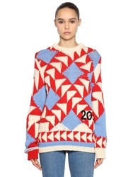 Calvin Klein 205W39nyc Intarsia Wool Blend Sweater Multicolor