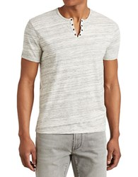 John Varvatos Marble Eyelet Henley Grey Heather