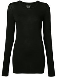 Majestic Filatures Longsleeved T Shirt Women Spandex Elastane Viscose 2 Black