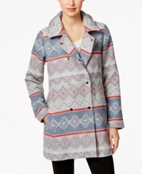 G.H. Bass And Co. Patterned Button Front Jacket Grey Dusk Combo
