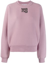 Alexander Wang T By Wash Go Dense Sweatshirt Purple