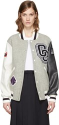 Opening Ceremony Grey Varsity Bomber Jacket