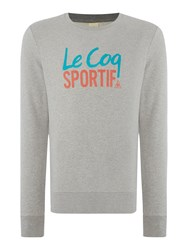 Le Coq Sportif Graphic Crew Neck Pull Over Jumpers Light Grey