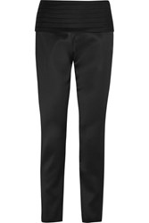 Moschino Satin Slim Leg Pants Black