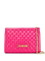 Love Moschino Quilted Shoulder Bag Pink
