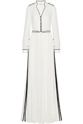 Gabriela Hearst Russell Belted Georgette Gown Ivory