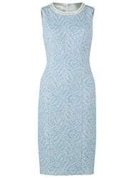 Gina Bacconi Jacquard Dress Blue