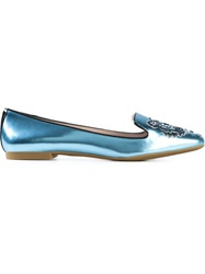 Kenzo 'Tiger' Slippers Blue