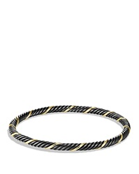David Yurman Black And Gold Cable Bangle Black Yellow