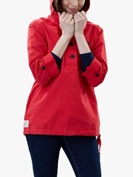 Joules Embleton Casual Pop Over Jacket Red