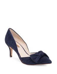Louise Et Cie Lo Adelena Suede Pumps Navy Blue