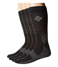 Columbia Moisture Control Basic Crew Extended Sizes 4 Pack Black Crew Cut Socks Shoes