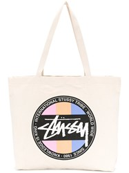 Stussy Logo Shopper Tote Nude And Neutrals