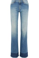 Red Valentino Faded Mid Rise Straight Leg Jeans Mid Denim