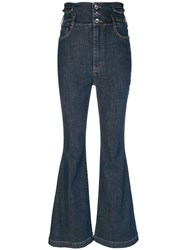 Dolce And Gabbana Five Pocket Flared Jeans Blue