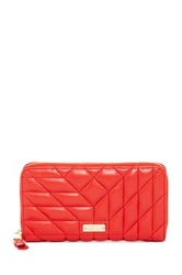 Badgley Mischka Clara Nappa Leather Quilted Wallet Pink