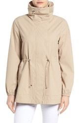 Bernardo Women's Breathable Microfiber Anorak Light Sand