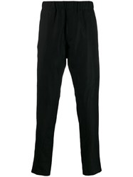 Ann Demeulemeester Elasticated Straight Leg Trousers Black