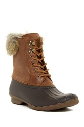 Sperry White Water Faux Fur Lined Duck Boot Brown