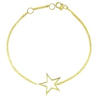 London Road Starry Night 9Ct Gold Open Frame Bracelet