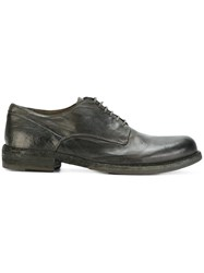 Officine Creative Lace Up Derby Shoes Calf Leather Horse Leather Leather Green