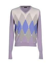 Ballantyne Knitwear Jumpers Men Lilac