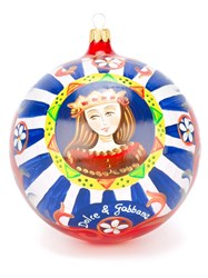 Dolce And Gabbana Carretto Print Christmas Ornament Red