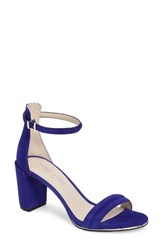 Kenneth Cole Women's New York 'Lex' Ankle Strap Sandal Electric Blue Suede