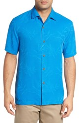 Tommy Bahama Men's Big And Tall Luau Floral Silk Shirt Download Blue