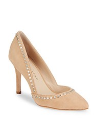 Loeffler Randall Point Toe Studded Pumps Nude