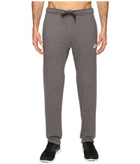 Nike Club Fleece Cuffed Pant Charcoal Heather White Men's Workout Gray
