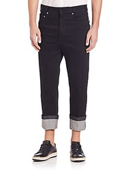 Neil Barrett Stretch Cuffed Jeans Black