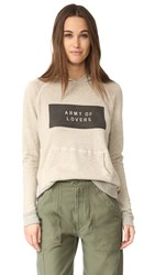 Sundry Army Of Lovers Pullover Hoodie Heather Khaki